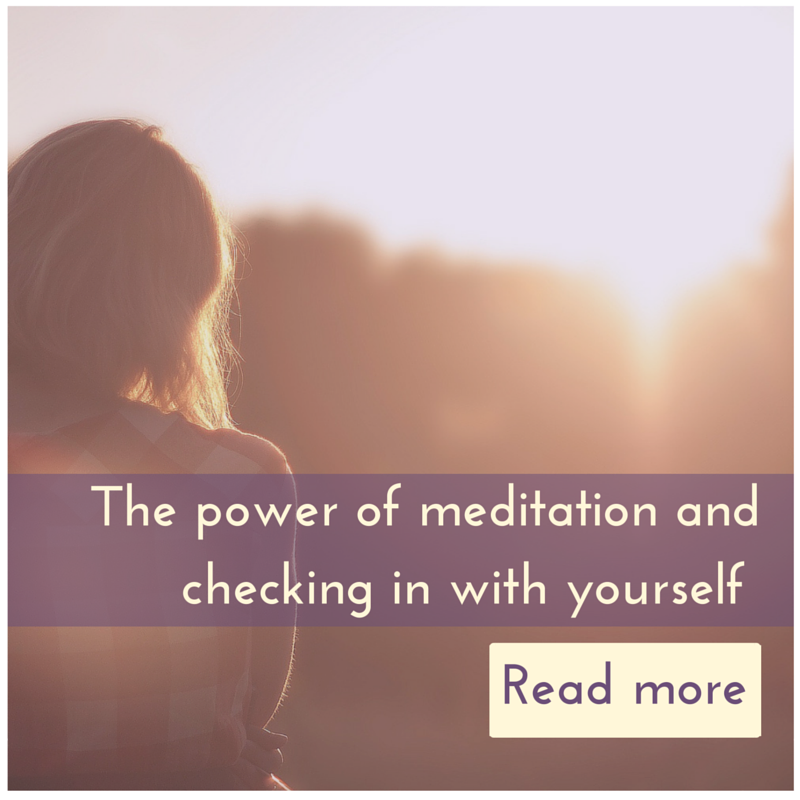 The power of meditation and checking in with yourself article